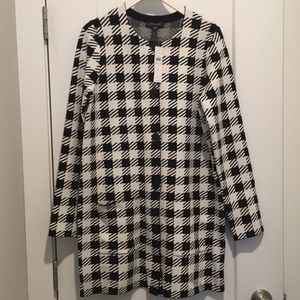 Chingham Coatigan,Sweater/Coat,size-S ,Black/White